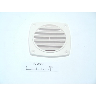Vent flush 70mm white ABS