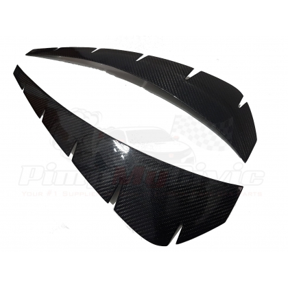 FK8 Fender Wing Outlet Trim Cover - Carbon Fibre