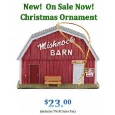 Mishnock Barn Christmas Ornament