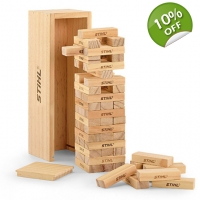 Stihl Wooden stacking tower game Jenga