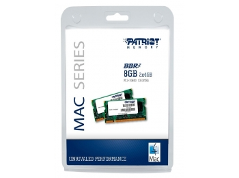 Patriot 8GB 2x4GB DDR3 1333MHz SODIMM Memory Kit  For Apple Mac
