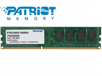 Patriot 8GB DDR3 1600MHz Desktop DIMM 1.5V