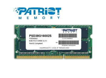 Patriot 8GB DDR3L 1600MHz 1.35V Notebook SODIMM