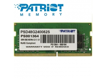 Patriot 8GB DDR4 2400MHz SODIMM for Notebook