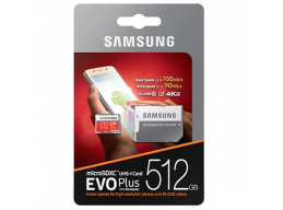 Samsung 512GB EVO Plus Micro SDXC with SD Adapter