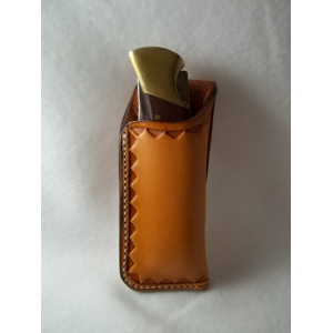 JS110-98 Custom leather knife sheath Vertical