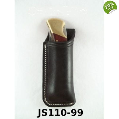 JS110-99 Custom leather knife sheath Vertical Right Sided