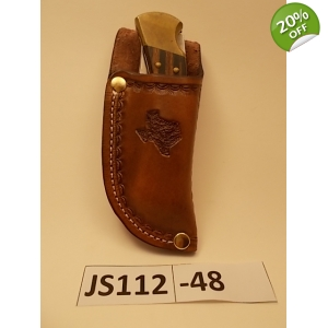 JS112-48 Custom leather knife sheath Vertical