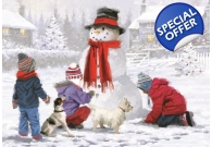 Snowman Christmas Cards 10 Pack