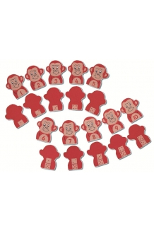 Monkey number finger puppets