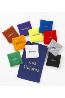 Colour bean bags - Spanish