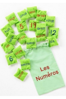 Number Bean Bags - French