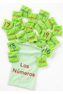 Number bean bags - Spanish