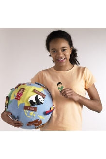 Fabric world globe small
