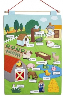 On the Farm Chart - French