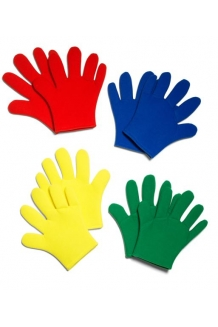 Storygloves - red , yellow, green, blue