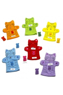 Kitty Cat Colour Puppets