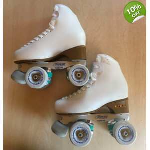Clearance item size 225 - size 1.5 skates white ..