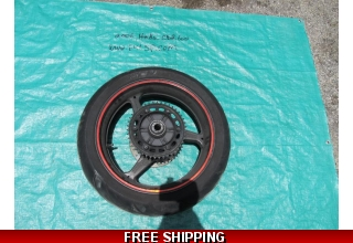 Rear Wheel Rim Tire Rotor Straight OEM Great Condition!