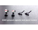2 GWR ground signals and 2 trackside point lever..