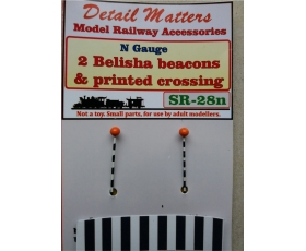 Belisha Beacons and printed zebra crossing. N scale