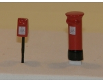 OO gauge Post boxes. Free-standing and post moun..