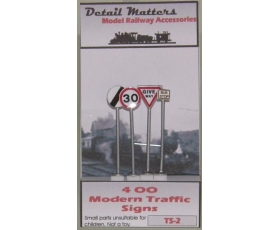 OO gauge Modern Road Traffic Signs 4 Pack speed etc.,