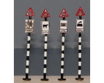 OO gauge Early Road Traffic Signs 4 Pack school ..