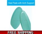 Arch Supports Gel Heel Pads 3/4 Insoles Inserts