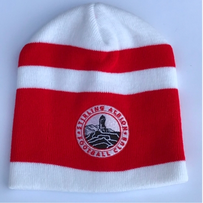Beanie Hat Red and White