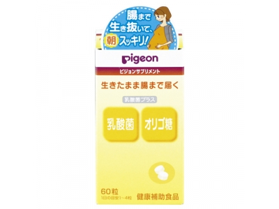 Pigeon Lactic acid bacteria plus 60 Tablets 乳酸菌プラス 60粒