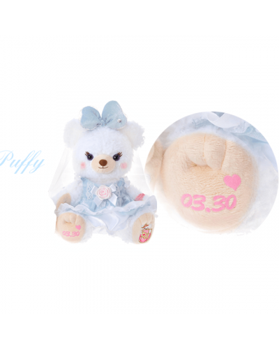 Japan Disneystore Disney Store Unibearsity Whip & Puffy Wedding Pair with Customised Name & Anniversary