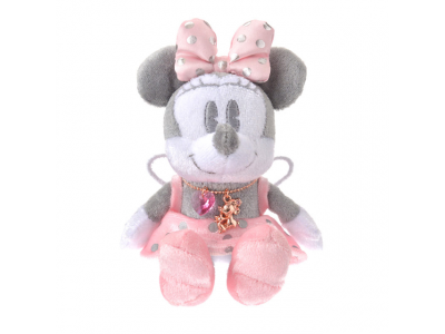 Japan Disney Store Disneystore Disney Jewel Plush with Necklace Minnie Mouse
