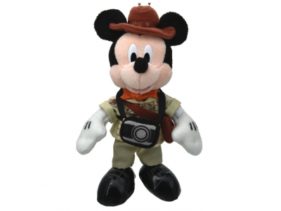 Japan Tokyo Disneyland Disneysea Disney Resorts Land Sea Mickey with Camera Adventure Soft Stuffed Strap with Chain