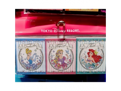 Japan Tokyo Disneyland Disneysea Disney Resorts Land Sea Princess Cinderella Rapunzel Tangled Mermaid Ariel Memo Pad Set of 3