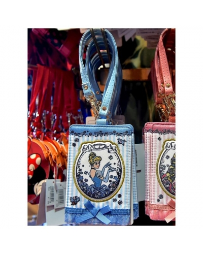 Japan Tokyo Disneyland Disneysea Disney Resorts Land Sea Princess Series Card Case Holder Pass Ariel Mermaid Cinderella Rapunzel Tangled