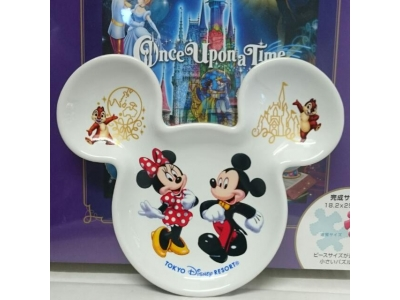 Japan Tokyo Disneyland Disneysea Disney Resorts Land Sea 2015 Autumn Dessert Plate  Mickey Minnie Chip N Dale