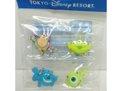Japan Tokyo Disneyland Disneysea Disney Resorts Land Sea Toy Story Monster Inc Fridge Magnet Buzz Light Year Little Greenmen Alien Sulley Mike