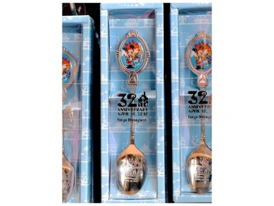 Japan Tokyo Disneyland Disneysea Disney Resorts Land Sea Mickey Stitch Tea Spoon 32nd anniversary