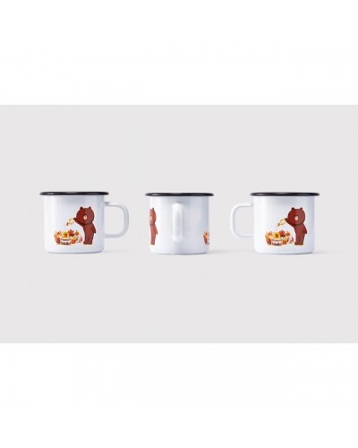 Japan Line Friends Brown Bear x Muurla Floral mug cup