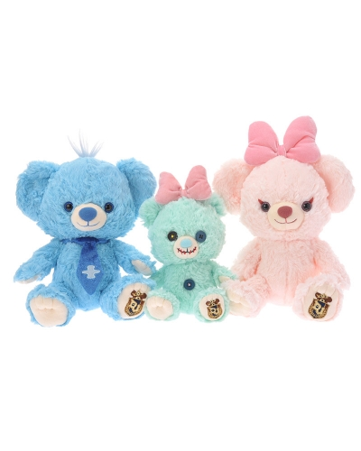 Japan Disney Store Unibearsity Blue Berry and Pie Small Bear Set SS Size ユニベアシティ ブルー・ベリー&パイ スモールベアセット