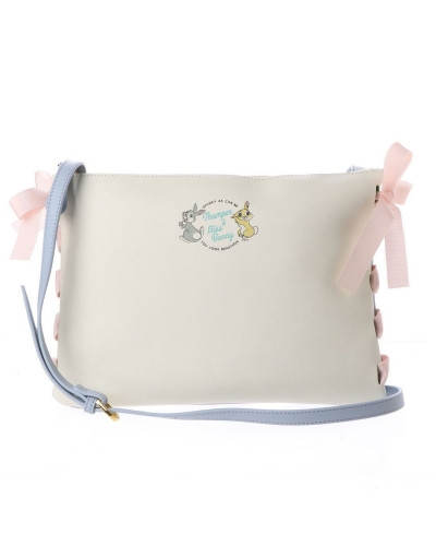 Japan Samantha Thavasa Colors By Jennifer Sky Disney Collection Thumper and Miss Bunny Light Blue/ Pink Shoulder Bag カラーズバイジェニファースカイ ミスバニーWポシェットショルダ
