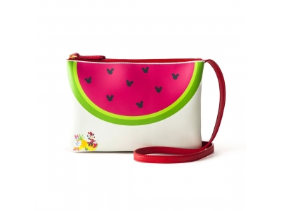 Japan Samantha Thavasa Colors By Jennifer Sky Disney Collection Minnie Mouse Daisy Duck Watermelon Red Shoulder Bag