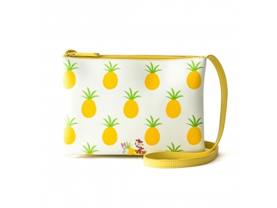 Japan Samantha Thavasa Colors By Jennifer Sky Disney Collection Minnie Mouse Daisy Duck Pineapple Yellow Shoulder Bag