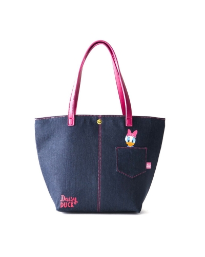 Japan Samantha Thavasa Colors By Jennifer Sky Disney Collection Mickey Mouse/ Daisy Duck Denim Series Tote Bag