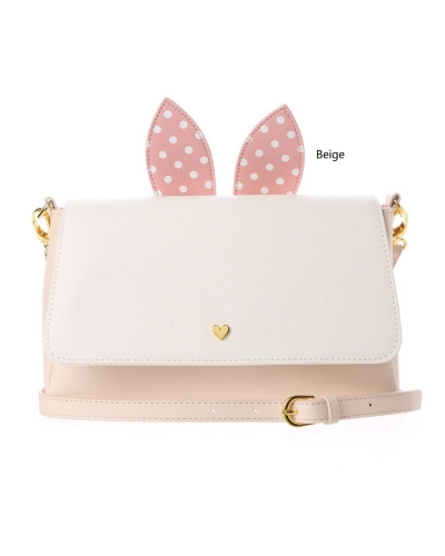 Japan Samantha Thavasa Colors By Jennifer Sky Disney Collection Thumper and Miss Bunny Gray/Beige Square Shoulder Bag カラーズバイジェニファースカイ ミスバニースクエアショルダー