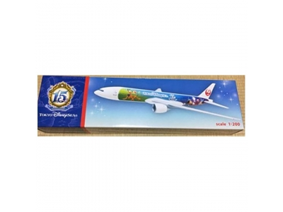 Tokyo Disneysea Sea 15th Anniversary Year of Wish Grand Finale X JAL Japan Airlines 1/200 Scale Plane Model Figure 1/6~ ディズニー シー 15周年 ザ・イヤー・オブ・ウィッシュ