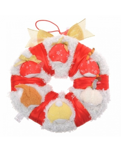 Japan Disney store Disneystore Tsum Tsum 2016 Christmas Winnie the Pooh & Friends Mistletoes Wreath Ring Set 日本迪士尼士多2016聖誕花環tsum tsum毛公仔