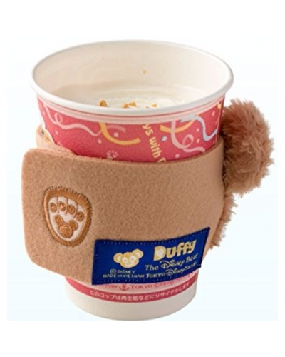 "Japan Tokyo Disneysea Disneyland Disney Resorts ""Journey with Duffy Your Friend Forever"" Duffy Flurry Face Souvenir Cup Sleeve ダッフィーのスーベニアスリーブ"
