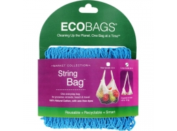ECOBAGS® Stringbag -  lang hank - Carribbean Blue